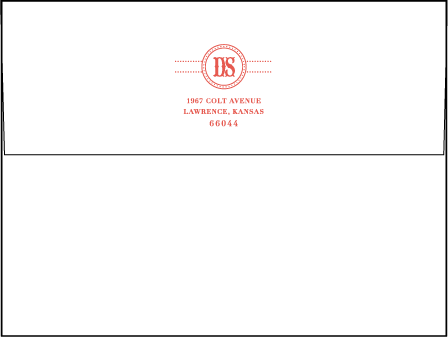 Savannah Letterpress Envelope Design Medium