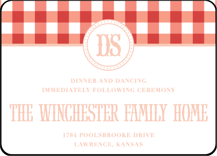 Savannah Letterpress Reception Design Medium