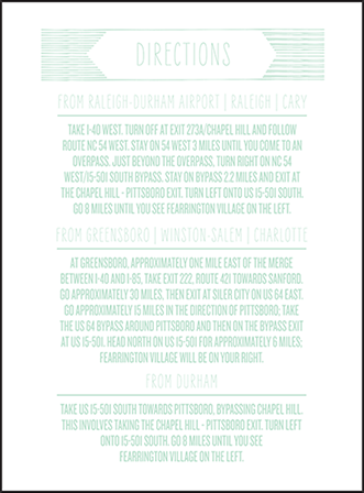 Sellick Modern Letterpress Direction Design Medium