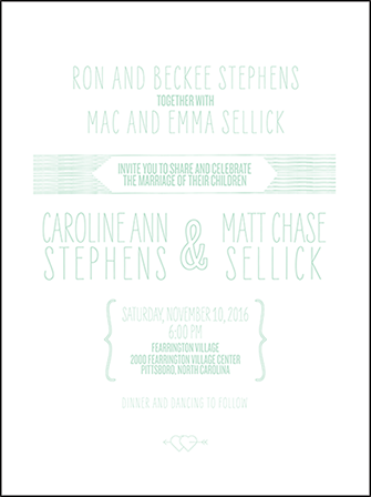 Sellick Modern Letterpress Invitation Design Medium