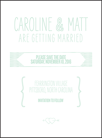 Sellick Modern Letterpress Save The Date Design Medium