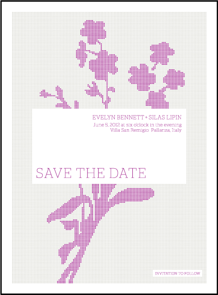 Serenade Letterpress Save The Date Design Medium