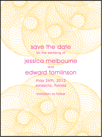 Shelby Letterpress Save The Date Design Medium