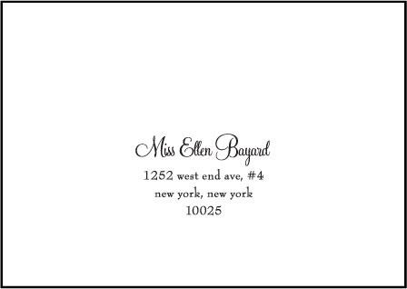 Silhouette Letterpress Reply Envelope Design Medium