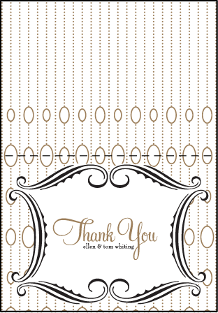 Silhouette Letterpress Thank You Card Fold Design Medium