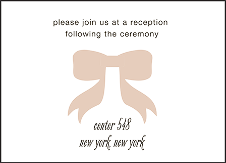 Simple Bow Letterpress Reception Design Medium