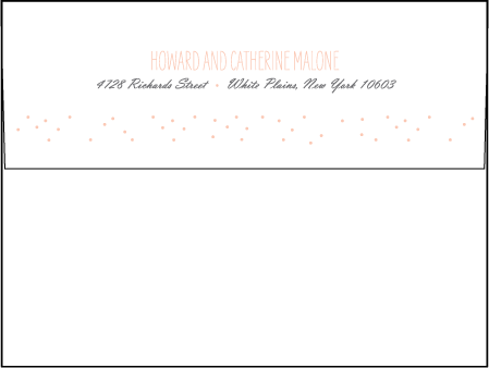Simple Dot Letterpress Envelope Design Medium