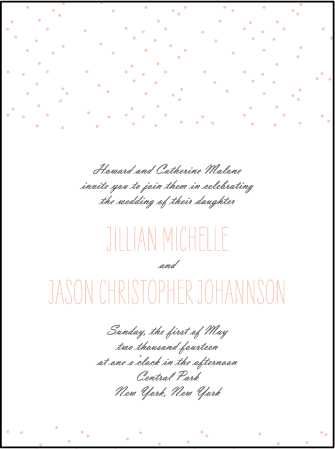 Simple Dot Letterpress Invitation Design Medium