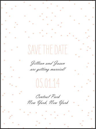 Simple Dot Letterpress Save The Date Design Medium