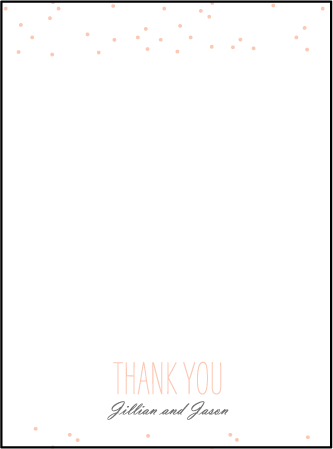 Simple Dot Letterpress Thank You Card Flat Design Medium