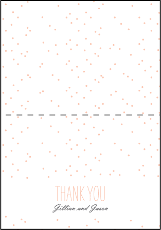 Simple Dot Letterpress Thank You Card Fold Design Medium