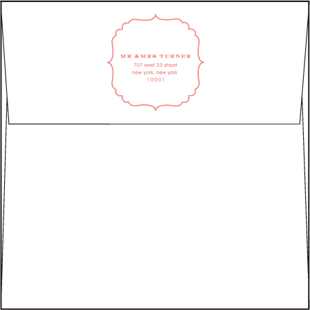 Simple Frame Letterpress Envelope Design Medium