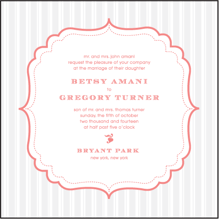 Simple Frame Letterpress Invitation Design Medium