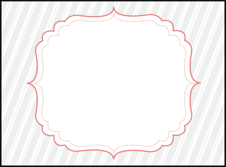 Simple Frame Letterpress Placecard Flat Design Medium