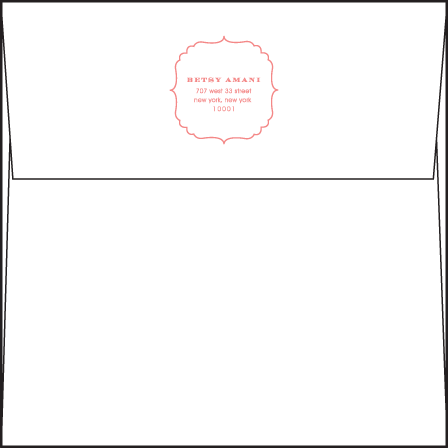 Simple Frame Letterpress Reply Envelope Design Medium