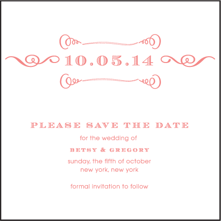 Simple Frame Letterpress Save The Date Design Medium