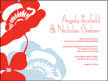 Simple Poppy Letterpress Invitation Design Medium