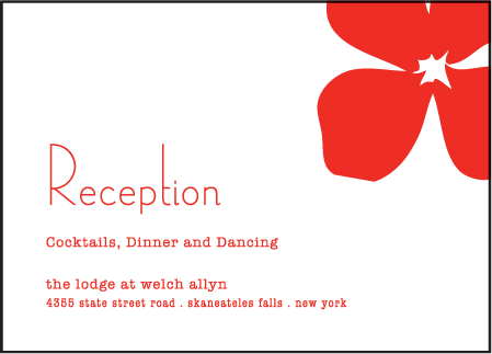 Simple Poppy Letterpress Reception Design Medium