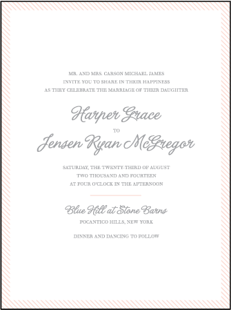 Simple Stripes Letterpress Invitation Design Medium
