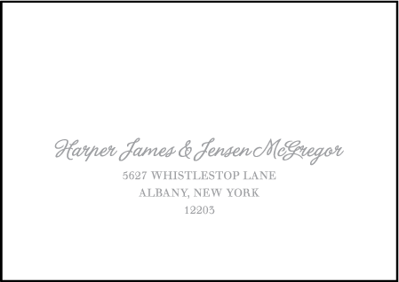 Simple Stripes Letterpress Reply Envelope Design Medium