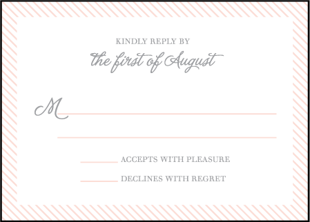 Simple Stripes Letterpress Reply Design Medium