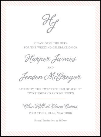 Simple Stripes Letterpress Save The Date Design Medium