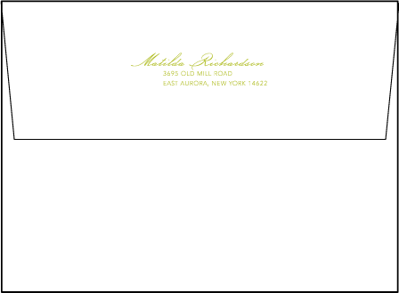 Simplicity Letterpress Envelope Design Medium