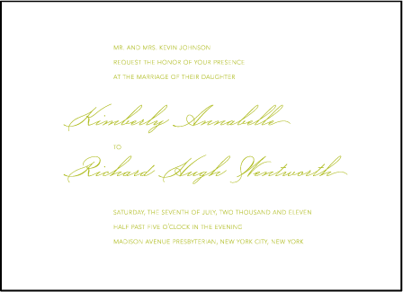 Simplicity Letterpress Invitation Design Medium
