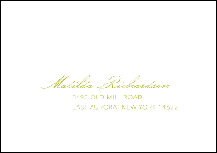 Simplicity Letterpress Reply Envelope Design Medium