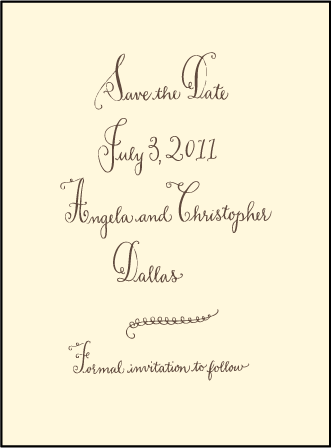 Sobelle Calligraphy Letterpress Save The Date Design Medium