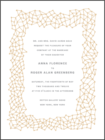 Soho Letterpress Invitation Design Medium
