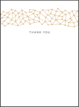 Soho Letterpress Thank You Card Flat Design Medium