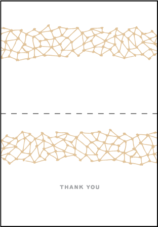 Soho Letterpress Thank You Card Fold Design Medium