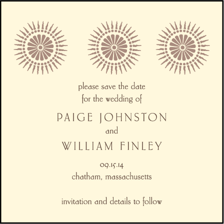 Soleil Letterpress Save The Date Design Medium