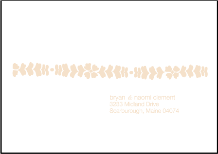 Solina Letterpress Reply Envelope Design Medium