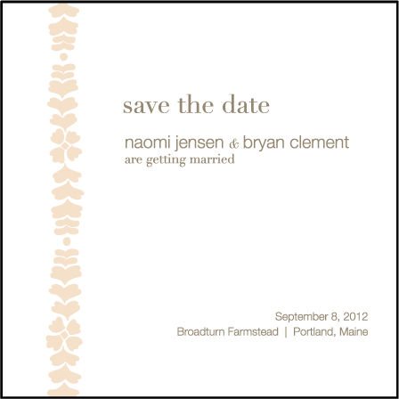Solina Letterpress Save The Date Design Medium