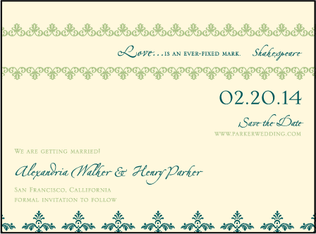 Sonnet Letterpress Save The Date Design Medium