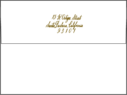 Sonoma Calligraphy Letterpress Envelope Design Medium