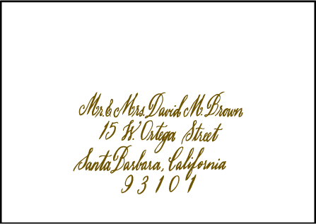 Sonoma Calligraphy Letterpress Reply Envelope Design Medium