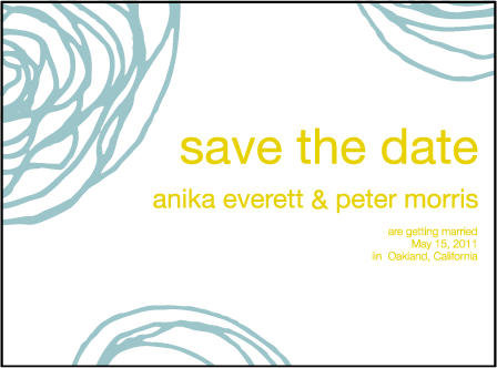 Spinnerette Letterpress Save The Date Design Medium