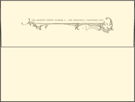 Splendor Letterpress Envelope Design Medium