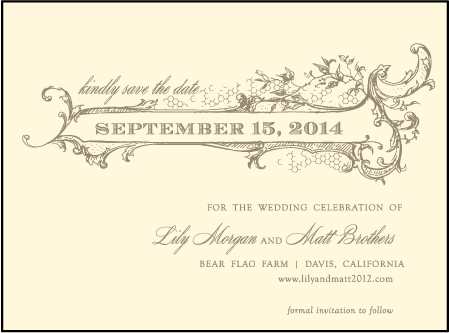 Splendor Letterpress Save The Date Design Medium