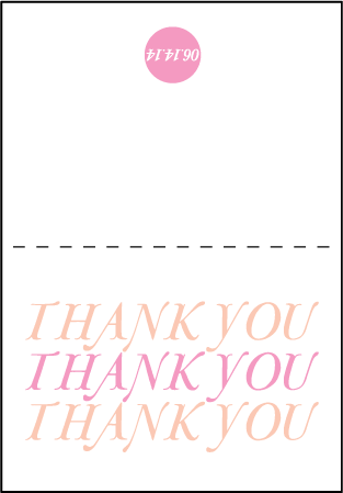 Storybook Romance Letterpress Thank You Card Fold Design Medium