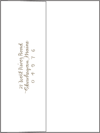 String Calligraphy Letterpress Envelope Design Medium