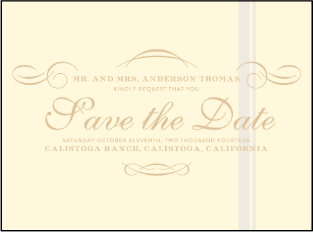 Studebaker Letterpress Save The Date Design Medium