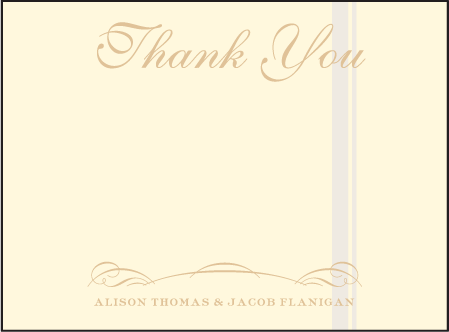 Studebaker Letterpress Thank You Card Flat Design Medium