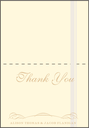 Studebaker Letterpress Thank You Card Fold Design Medium