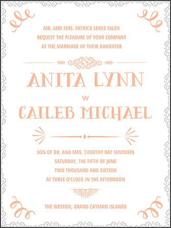 Surfside Letterpress Invitation Design Medium