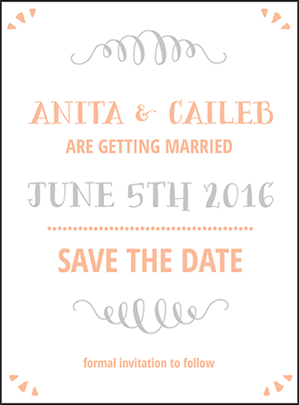 Surfside Letterpress Save The Date Design Medium