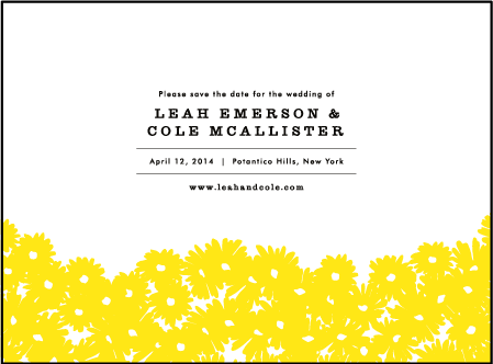 Sweet Daisy Letterpress Save The Date Design Medium